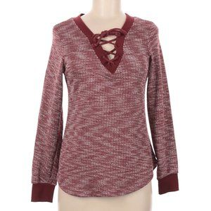 Inspired Hearts Henley Long Sleeve Sweater